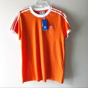 adidas originals orange 3-Stripes T-Shirt